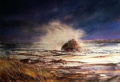 Painting - Sea Drama by Evelyn Antonysen