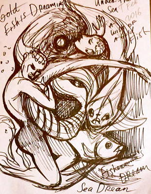Drawing - Sea Dream Sketch by Yelena Tylkina