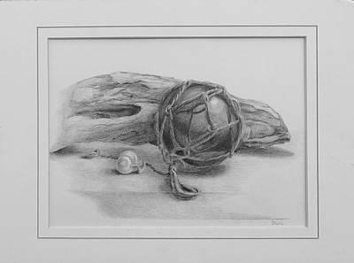 Drawing - Sea Drift by Grace Diehl