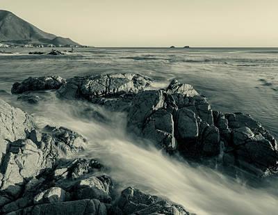 Photograph - Sea-falls Bw by Jonathan Nguyen