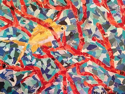 Sea Fan Coral With Fish Original by Natalie Driggs