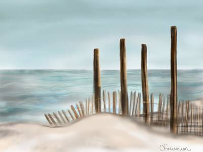 Painting - Sea Fence by Christine Fournier
