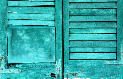 Sea Foam Shutters Art Print
