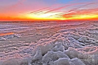 Photograph - Sea Foam Sunset by Shelia Kempf
