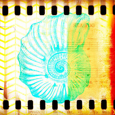 Tropical Digital Art - Sea Fog Nautilus by Brandi Fitzgerald
