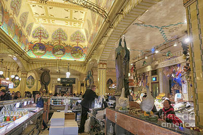 Photograph - Sea Food Counter At Harrods, London by Patricia Hofmeester