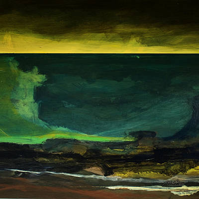 Painting - Sea Fugue 3 -  Tsunami by    Michaelalonzo   Kominsky
