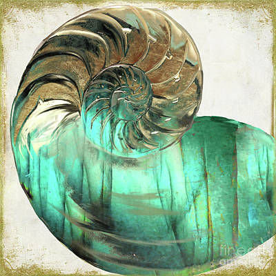 Snail Painting - Sea Gem by Mindy Sommers