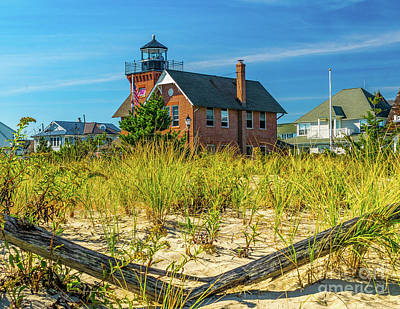 Photograph - Sea Girt Lighthouse From The Dunes by Nick Zelinsky