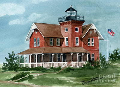 Painting - Sea Girt Lighthouse by Nancy Patterson