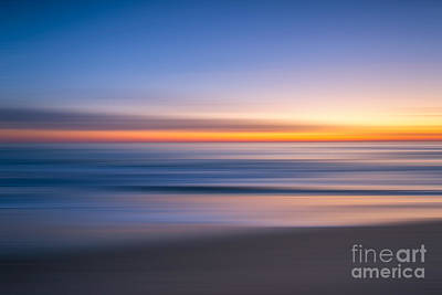 Sea Girt New Jersey Abstract Seascape Sunrise Art Print