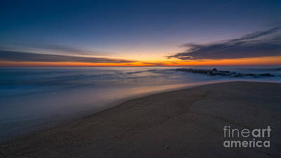 Sea Girt Sunrise New Jersey  Art Print by Michael Ver Sprill