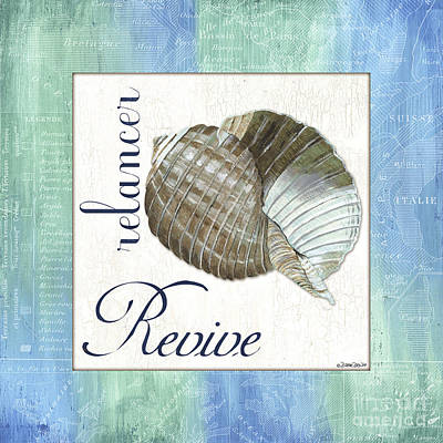 Shell Painting - Sea Glass 4 by Debbie DeWitt