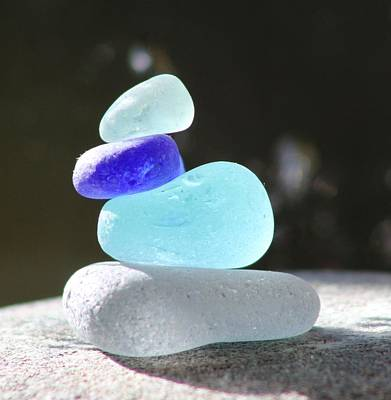 Vetro Photograph - Sea Glass Cairn 3 by Judy Bernier