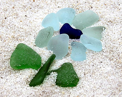 Photograph - Sea Glass Floral by Janice Drew