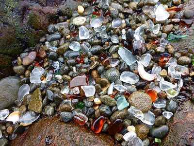 Photograph - Sea Glass Gems by Amelia Racca