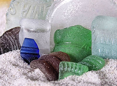 Photograph - Sea Glass Lettering by Janice Drew