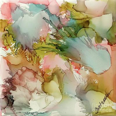 Splashy Art Painting - Sea Glass by Jo Ann Bossems
