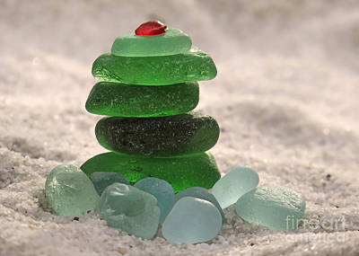 Photograph - Sea Glass Tree by Janice Drew