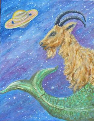 Painting - Sea Goat by Caroline Owen-Doar