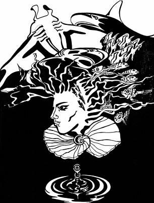 Drawing - Sea Goddess by Yelena Tylkina