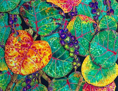 Batik Painting - Sea  Grapes by Daniel Jean-Baptiste