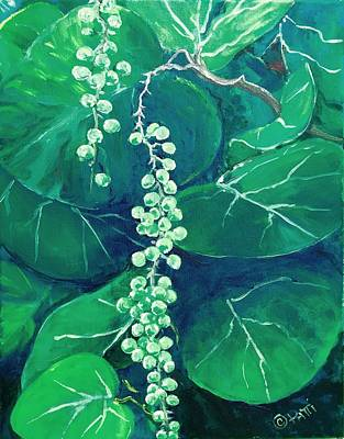 Painting - Sea Grapes On Duck Key by Patti Lane