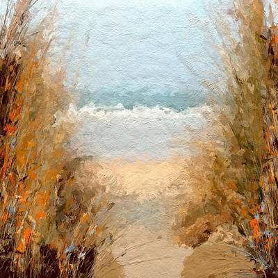 Beach Landscape Mixed Media - Sea Grass Abstract  by Anthony Fishburne