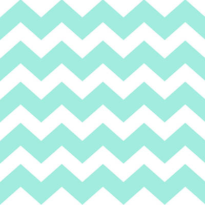 Chevron Mixed Media - Sea Green Chevron Pattern by Christina Rollo
