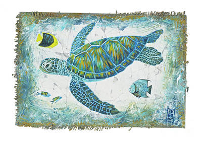 Green Sea Turtle Painting - Sea Green by Danielle Perry
