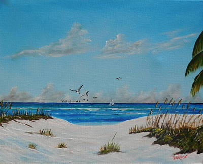 Painting - Sea Gulls On The Key by Lloyd Dobson