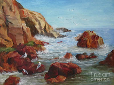 Painting - Sea Gulls by Roseann Gilmore