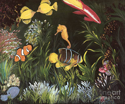 Fish Underwater Painting - Sea Harmony by Carol Sweetwood