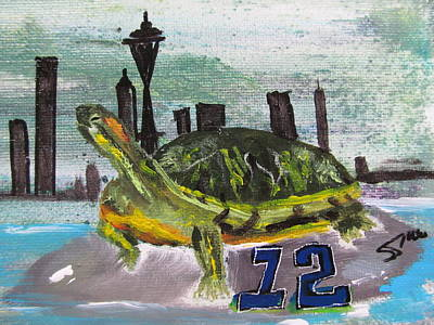 Sea Hawks Go Original by Susan Snow Voidets