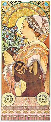 Painting - Sea Holly by Alphonse Mucha
