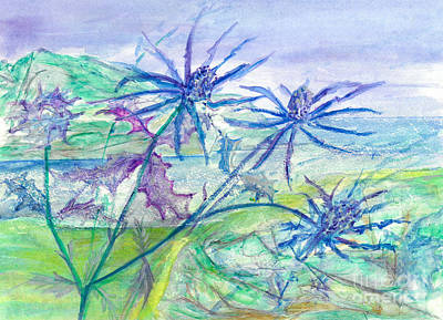 Sea Holly Art Print by Veronica Rickard