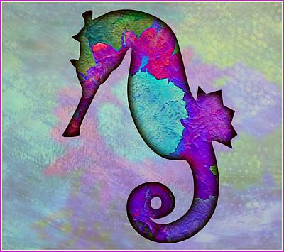 Sea Horse Art Print by Mindy Newman