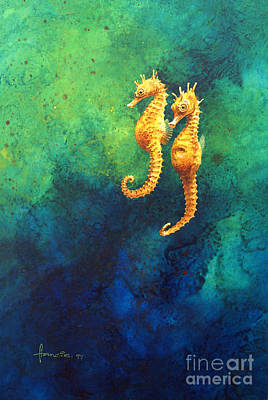 Sea Horse Painting - Sea Horses by John Francis