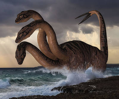 Digital Art - Sea Hydra by Solomon Barroa