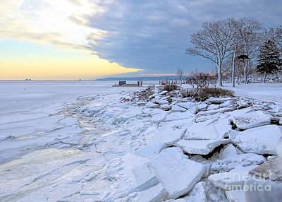 Photograph - Sea Ice Chunks by Janice Drew