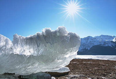 Photograph - Sea Ice Glowing With The Sun by Michele Cornelius