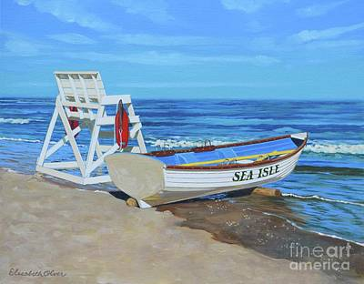 Sea Isle Beach Patrol Print by Elisabeth Olver