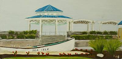 Jersey Shore Painting - Sea Isle City New Jersey Gazebo by Patty Kay Hall