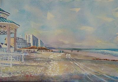 Jersey Shore Painting - Sea Isle City New Jersey by Patty Kay Hall
