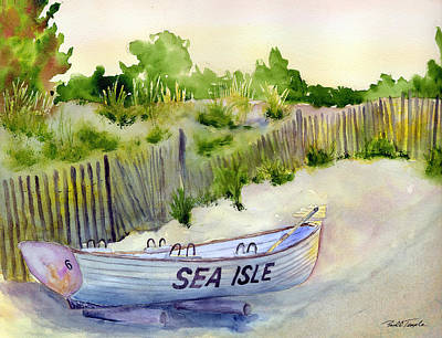 Sea Isle Rescue Boat Art Print by Paul Temple