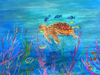 Painting - Sea Jewels by Anne Sands