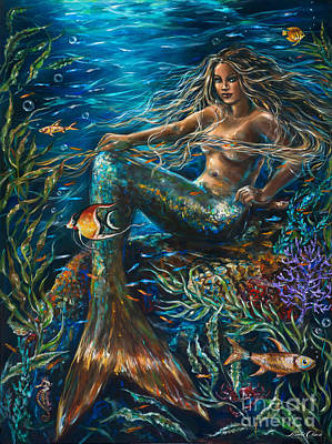 Sea Jewels Mermaid Art Print