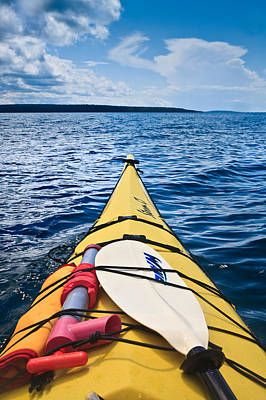 Kayak Photograph - Sea Kayaking by Steve Gadomski