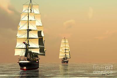 Boating Digital Art - Sea King by Corey Ford