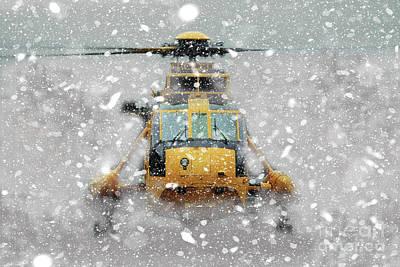 Searching Digital Art - Sea King Snow by J Biggadike